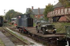 The Rushden Historical Transport Society held a War Weekend event in support of the British Legion Poppy Appeal on October 29 and The Barclay diesel shunter (ex War Department) with a demonstration freight. Weekend Events, October 29, Model Trains, Scale Models, Military Vehicles, 1940s, Poppy, Diesel, Transportation