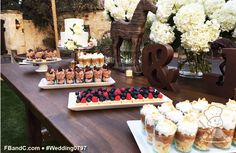 Design W 0797 | Dessert Bar featuring Fresh Fruit Tartlets, Chocolate Shooter Cups, Pumpkin Pie Shooter Cups | Custom Quote