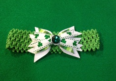 Saint Patrick's bow for baby girl