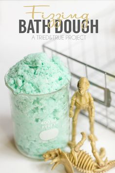 Make bath time fun with this Fizzing Bath Dough made with just three simple ingredients! | triedandtrueblog.com #johnsonspartners #SoMuchMore