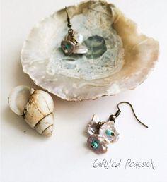 Keshi pearl earrings by TwistedPeacock