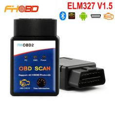 Elm327 Bluetooth ELM 327 V1.5 V 1.5 OBD2 OBDII Adaptor Scanner for Android Code Reader Diagnostic Tool New Product FHOBD2 -- More info could be found at the image url.