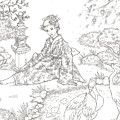 Tranquil Garden Drawing by Jennifer McPherson