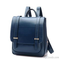 Double Buckle Leather Shoulder Bag Backpack only $34.99 in ByGoods.com!