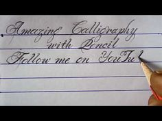 Hand writing with pencil | Pencil calligraphy | Mazic Writer - YouTube