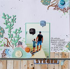 #papercrafting #scrapbook #layout - Together in the pier by Timi at @studio_calico