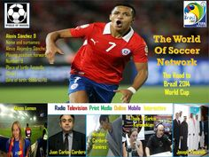 Alexis Sanchez, Chile, Barcelona FC (La Liga, Spain), The World of Soccer Poster Series, Road to Brazil 2014 FIFA WORLD CUP, The Top 1000 Best Soccer Players Soccer Poster, Good Soccer Players, Poster Series, Fifa World Cup, Fc Barcelona, Chile, Brazil, Spain, Baseball Cards