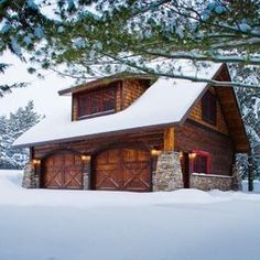 barn with living quarters garage and shed rustic with barn rustic barn style prefab home design pole barn house plans exterior rustic with dark wood rustic barn Design Garage, Shed Design, House Design, Floor Design, Cabin Design, Design Design, Cabin Homes, Log Homes, Style At Home