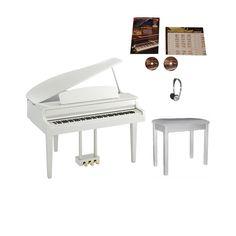 Yamaha CLP565GPWH Digital Piano Bundle   White