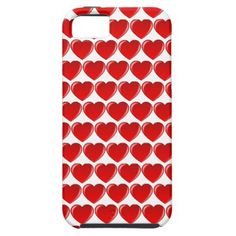 Red Heart Phone Case - valentines day gifts love couple diy personalize for her for him girlfriend boyfriend