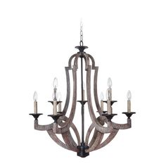 Jeremiah By Craftmade Winton Weathered Pine And Bronze Nine Light 30 Inch Chandelier On SALE... THIS IS THE SIZE WE NEED