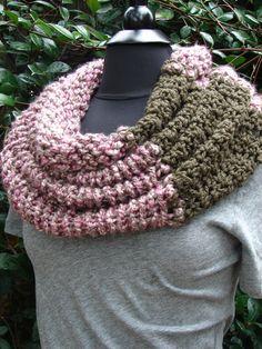 color block cowl knit & crochet