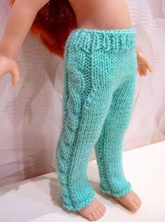 СП штанишек спицами на паолку с косами | Играем в куклы