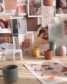 Art studio inspiration creative Ideas for 2019 Workspace Design, Office Workspace, Office Walls, Home Office Design, Artist Workspace, Decoration Inspiration, Workspace Inspiration, Inspiration Wall, Image Deco