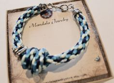 Braided Kumihimo Bracelet with Love Not $ 14.00