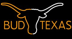 Bar Neon Signs Texas bud light | email friend bud texas saffron and white longhorn neon beer