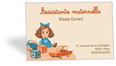 Carte De Visite Retro Vintage Assistante Maternelle