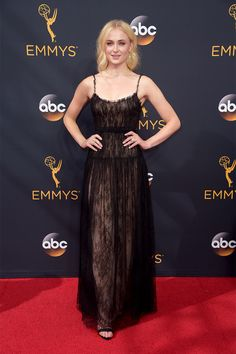Sophie Turner in Valentino - Emmy 2016