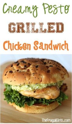 Creamy Pesto Grilled Chicken Sandwich Recipe! from TheFrugalGirls.com ~ this easy, delicious recipe will take your grilled chicken to a whole new level! #recipes #thefrugalgirls