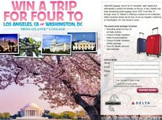 The Atlantic Luggage Trip to Los Angeles or Washington, DC Sweepstakes