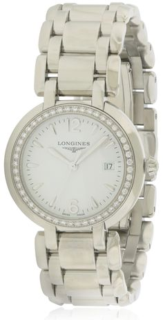 Longines Primaluna Stainless Steel Ladies Watch L81120166 Tag Heuer Aquaracer Ladies, Discount Watches, Raymond Weil, Two Tones, Michael Kors Watch, Chronograph, Gucci, Stainless Steel, Lady