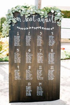 modern wedding seating chart - brides of adelaide