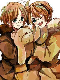 Hetalia ~ Canada and America America And Canada, North America, Manga Anime, Face, Otp, Forget, Fandoms, Cosplay, Fandom