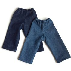 Doll jeans for to doll, including girl doll, baby or twin doll, bamboletta doll Boy Doll, Girl Dolls, Laura Ashley Fashion, Types Of Hats, Jeans Fabric, Bitty Baby, Waldorf Dolls, Dark Blue Jeans, 18 Inch Doll