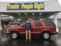 Congratulations Tony on the purchase of your 1999 Chevrolet S10 Blazer. We appreciate your business.