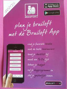 Bruiloft App: Sterk> Duidelijke informatie. Opvallende kleur. Slim dat er Gratis bij staat. Zwak> n.v.t.