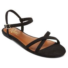 Women's Revel Micro Suede Cross Strap Flat Sandal - Chili 6.5 : Target