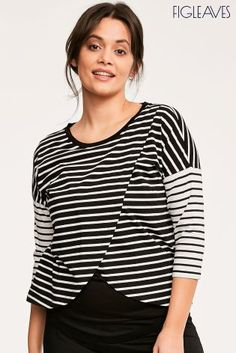 0a765b80d910c Buy Figleaves Nursing T-Shirt Black And Cream Stripe from the Next UK  online shop