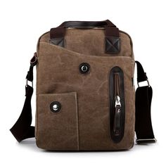 New fashion canvas men messenger school bag canvas stylish high quality canvas bag
