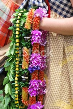 Traditional Hawaiian Leis during the Hawaiin Lei Day Festival in Waikiki, Oahu Island. In Hawaiian tradition, these garlands are the welcome sign. Lei has become the symbol of Hawaii to millions of...