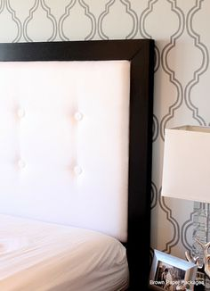 Lessons Learned from Making a Headboard: Brown Paper Packages ~~~~ The Project That Didn& Want to End How To Make Headboard, Diy Headboards, Faux Headboard, Black Headboard, Headboard Ideas, Do It Yourself Home, Awesome Bedrooms, Bedroom Decor, Master Bedroom
