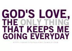God's love....