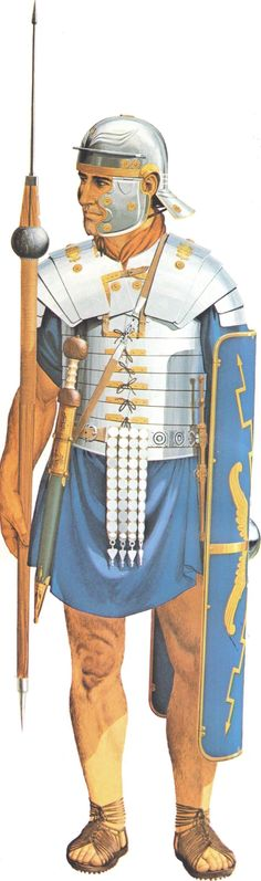 Roman Legionary of the second half/1st Century AD. By Peter Connolly (Roman Military Costume/Classical Warfare)
