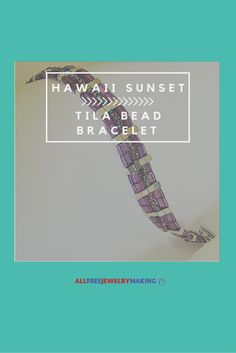 I have a stash of Tila Beads - this looks like the perfect bracelet to make.