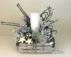 Adventsgesteck Editha 140005 von BANEKE creative auf DaWanda.com