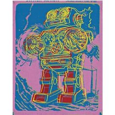 View Robot (Toy Painting) By Andy Warhol; acrylic and silkscreen ink on canvas; Access more artwork lots and estimated & realized auction prices on MutualArt. Andy Warhol Pop Art, Drawing Artist, Artist Painting, Robot Painting, Warhol Paintings, Pop Art Illustration, Illustrations, Art Sketchbook, Cool Art
