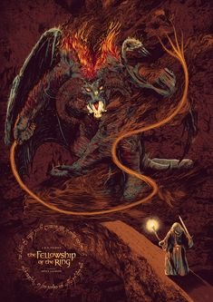 Image du film The Lord of the Rings: The Fellowship of the Ring (Peter Jackson) de Amaury Filho Jrr Tolkien, High Fantasy, Fantasy Rpg, Balrog Of Morgoth, Lord Of The Rings Tattoo, History Of Middle Earth, Best Movie Posters, Film Posters, Dragon Rpg