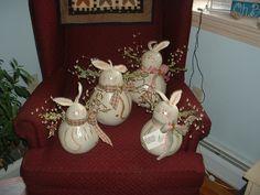Baileys Studio bunny gourds