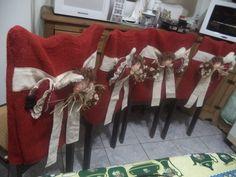 capas de cadeira com anjos
