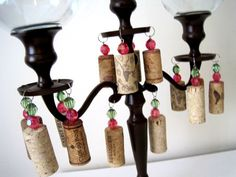 Tuscan Vino Candelabras by ShabulousCreations on Etsy, $60.00