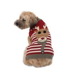 Rudys Reindeer Holiday Dog Sweater
