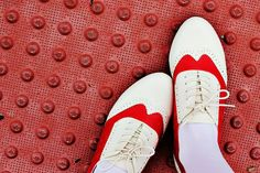 Red saddle shoes 1