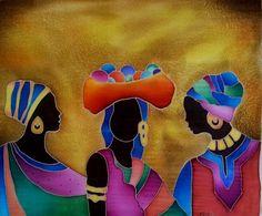 Women selling goods.. Silk