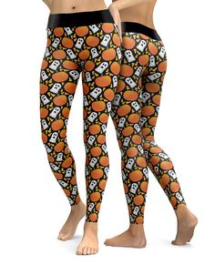 Custom Ghost Pumpkin Candy Corn Leggings   Womens Leggings   Capri Leggings   Yoga Pants   Tights   Stretch Pants   Gym Gear   Printed Leggings   CosPlay   Plus Size   XS-5X   Womens Activeware   Yoga Leggings   Festival Leggings   Workout Gear   Exercise Leggings   Ladies Leggings   Workout Leggings   Halloween   Candy Corn Made in the USA. -Custom Leggings designed, printed, cut and sewn to order in Phoenix, AZ -Great gift for her -82% Polyester / 18% Spandex blend. -4 way stretch whic...