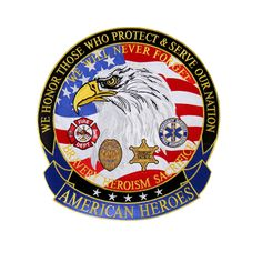 American Heroes Embroidered Patch- 5 X 5