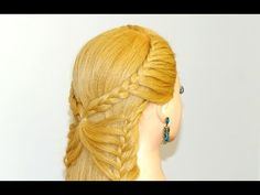 Hairstyles for long hair. Butterfly braid. Hairstyles for everyday. - YouTube